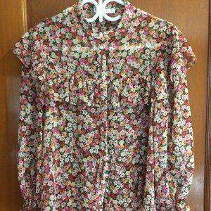 Mango flowery blouse with ruffles
